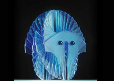 Maschera azteca azzurra | Blue Aztec Mask