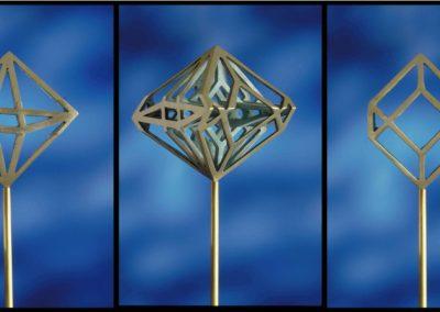 Doppia piramide e cubo | Double Piramid and Cube
